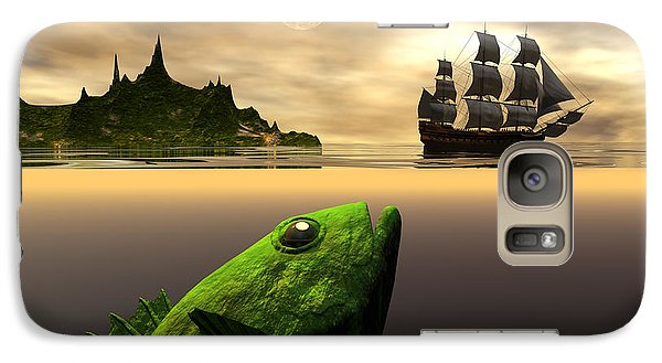 Galaxy Case featuring the digital art Gustatory Anticipation by Claude McCoy