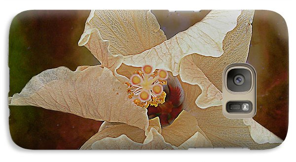 Galaxy Case featuring the photograph Hibiscus Floats In Space by Barbara Middleton