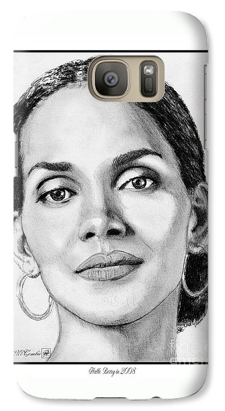 Galaxy Case featuring the drawing Halle Berry In 2008 by J McCombie