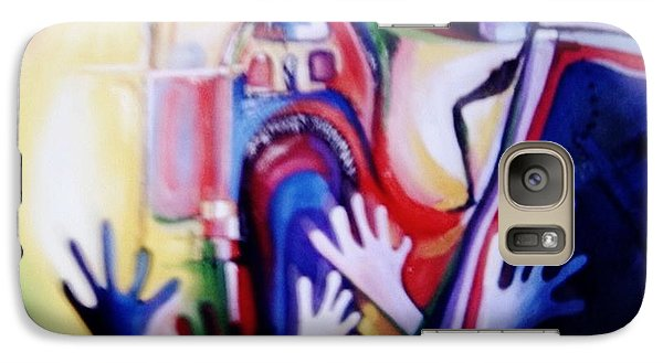 Galaxy Case featuring the painting Hallelujah At Cathedral by Oyoroko Ken ochuko