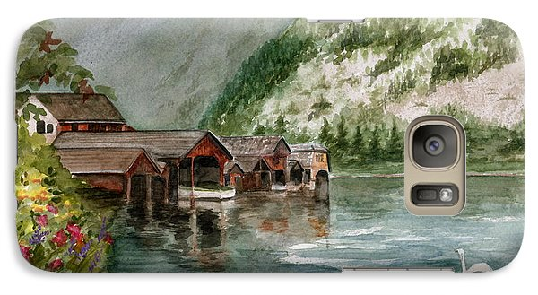Galaxy Case featuring the painting Hallstatt In The Spring  by Nancy Patterson