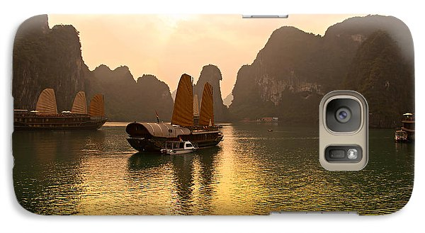 Galaxy Case featuring the photograph Halong Bay - Vietnam by Luciano Mortula