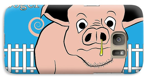 Galaxy Case featuring the digital art Ham Booger by John Crothers