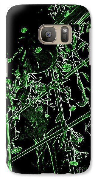 Galaxy Case featuring the photograph Hanging Plants In Window by Renee Trenholm