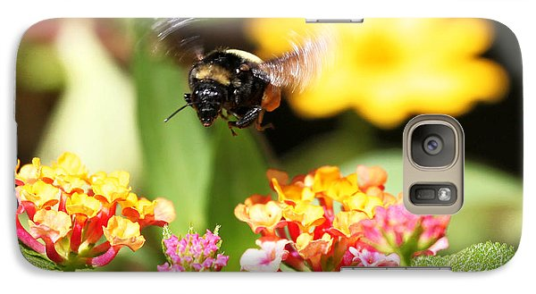 Galaxy Case featuring the photograph Happy Bee by Luana K Perez