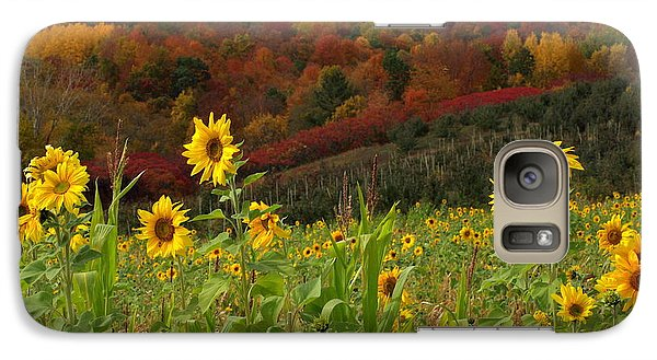 Galaxy Case featuring the photograph Happy Fall by Linda Mishler