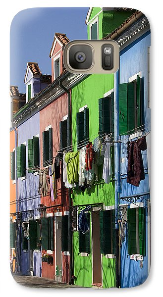 Galaxy Case featuring the photograph Happy Houses by Raffaella Lunelli