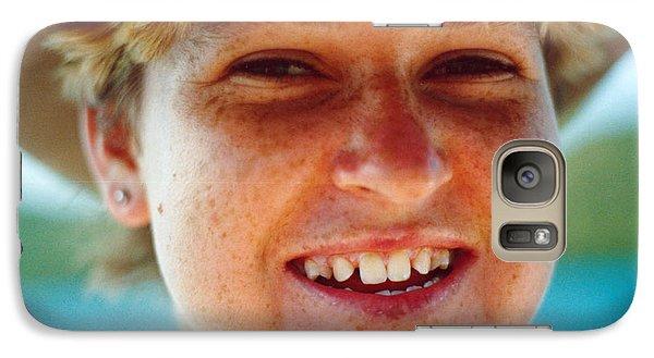 Galaxy Case featuring the photograph Happy Island Girl by Vicki Ferrari