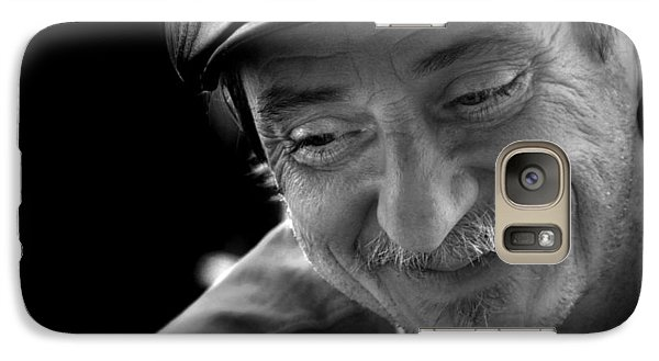 Galaxy Case featuring the photograph Happy Man by Kelly Hazel