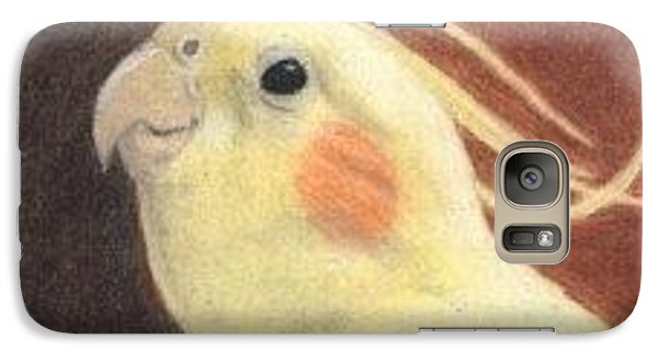 Galaxy Case featuring the drawing Happy Mitchie - Aceo by Ana Tirolese