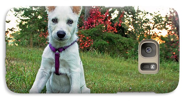 Galaxy Case featuring the photograph Happy Puppy by Tyra  OBryant