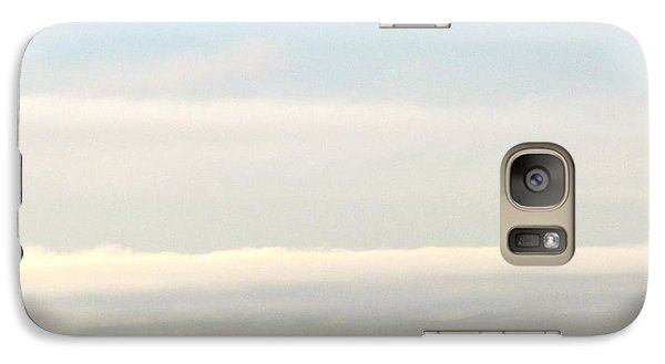 Galaxy Case featuring the photograph Harbor Cranes In Fog by Sean Griffin
