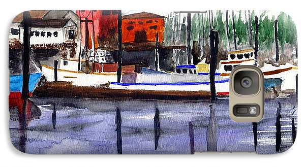 Galaxy Case featuring the painting Harbor Fishing Boats by Chriss Pagani