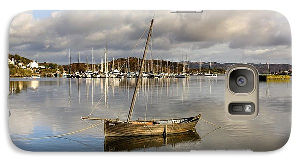 Galaxy Case featuring the photograph Harbour In Tarbert Scotland, Uk by John Short