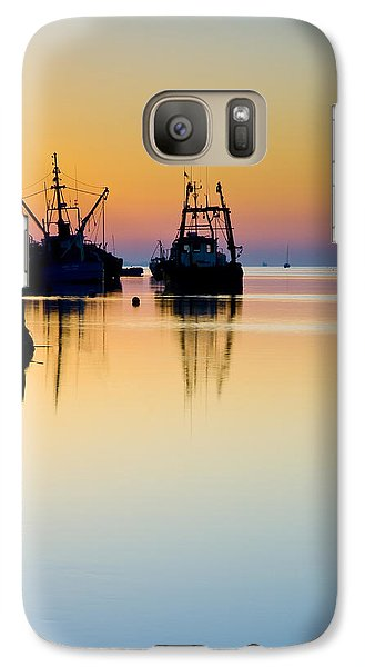 Galaxy Case featuring the photograph Harbour Sunrise by Trevor Chriss