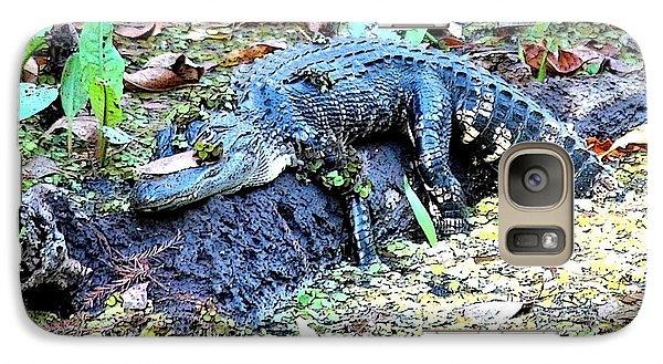 Hard Day In The Swamp - Digital Art Galaxy Case by Carol Groenen
