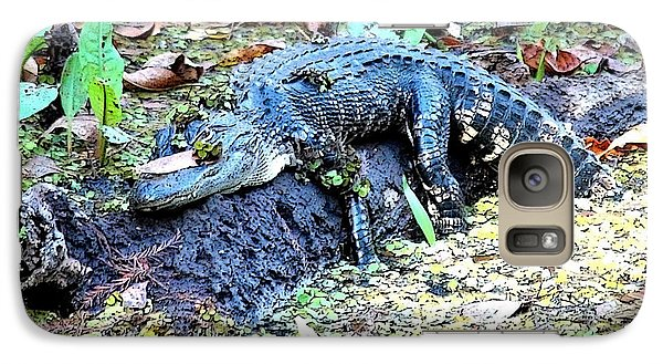 Hard Day In The Swamp - Digital Art Galaxy S7 Case by Carol Groenen