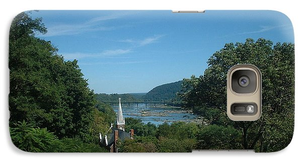 Galaxy Case featuring the painting Harper's Ferry Long View by Mark Robbins