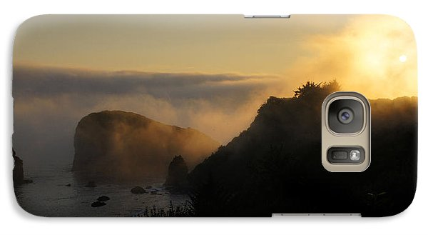 Galaxy Case featuring the photograph Harris Beach Sunset Panorama by Mick Anderson