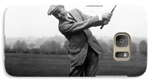 Galaxy Case featuring the photograph Harry Vardon Swinging His Golf Club by International  Images