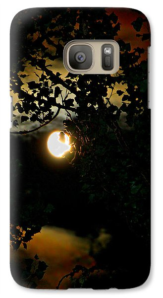 Galaxy Case featuring the photograph Haunting Moon IIi by Jeanette C Landstrom