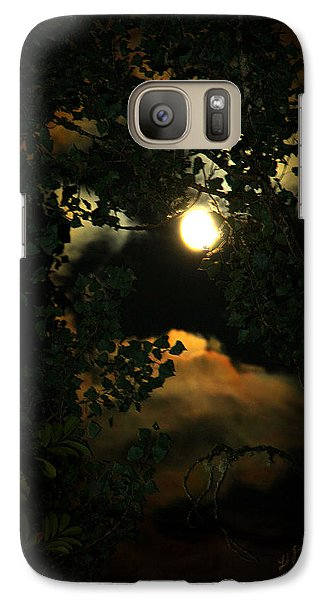Galaxy Case featuring the photograph Haunting Moon by Jeanette C Landstrom