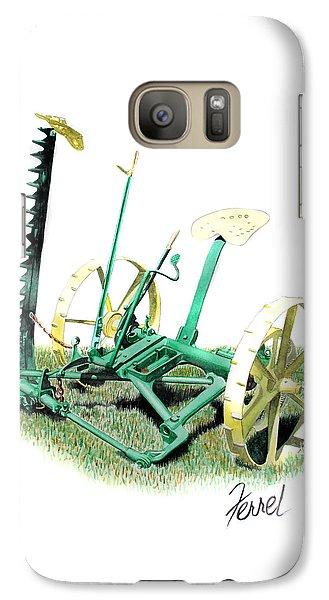 Galaxy Case featuring the painting Hay Cutter by Ferrel Cordle