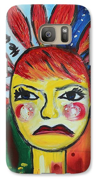 Galaxy Case featuring the painting He Loves Me Not by Sladjana Lazarevic