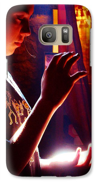 Galaxy Case featuring the photograph Healing Hands by Susanne Still