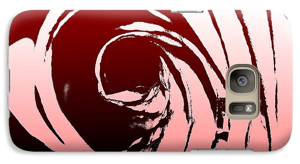 Galaxy Case featuring the photograph Heart Of The Rose by Lauren Radke