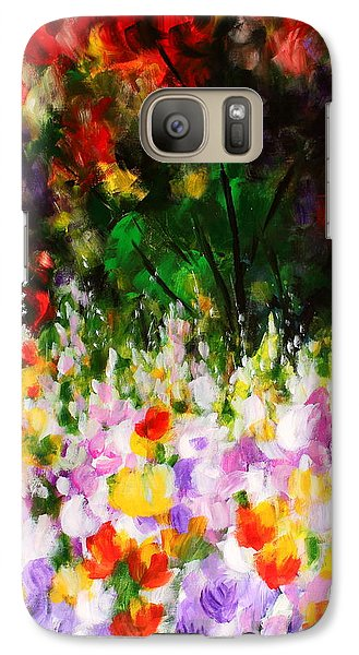 Galaxy Case featuring the painting Heavenly Garden by Kume Bryant