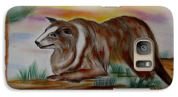 Galaxy Case featuring the drawing Herding Collie by Maria Urso