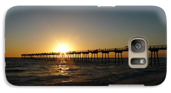Galaxy Case featuring the photograph Hermosa Beach Sunset by Nina Prommer