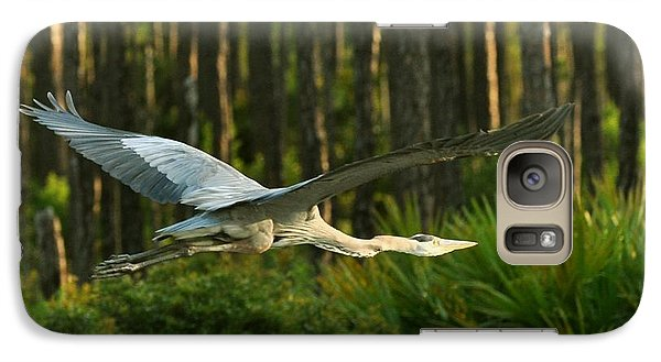 Galaxy Case featuring the photograph Heron In Flight by Rick Frost