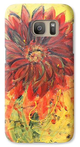 Galaxy Case featuring the painting Hey Babe by Sladjana Lazarevic