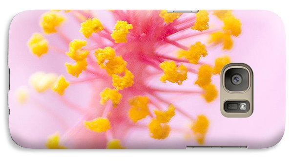 Galaxy Case featuring the photograph Hibiscus In Pink And Yellow by Anne Rodkin