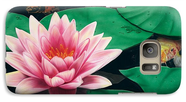 Galaxy Case featuring the painting Hide And Seek by Dan Menta