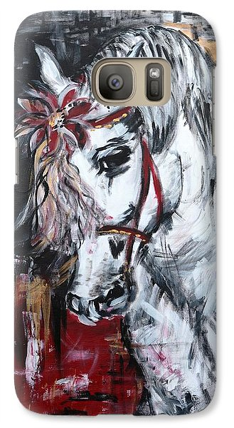 Galaxy Case featuring the painting Hiding Something? by Sladjana Lazarevic