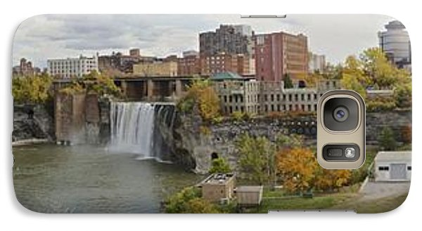 Galaxy Case featuring the photograph High Falls Panorama by William Norton