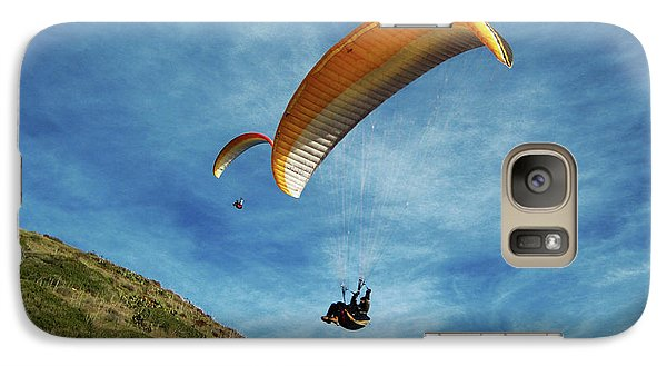Galaxy Case featuring the photograph High Flyers by Lorraine Devon Wilke