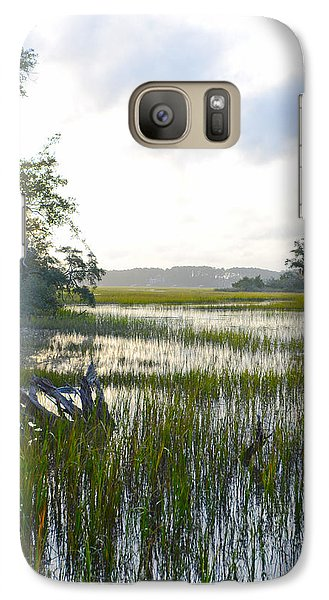 Galaxy Case featuring the photograph High Tide by Margaret Palmer