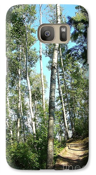 Galaxy Case featuring the photograph Hiking Trail by Jim Sauchyn