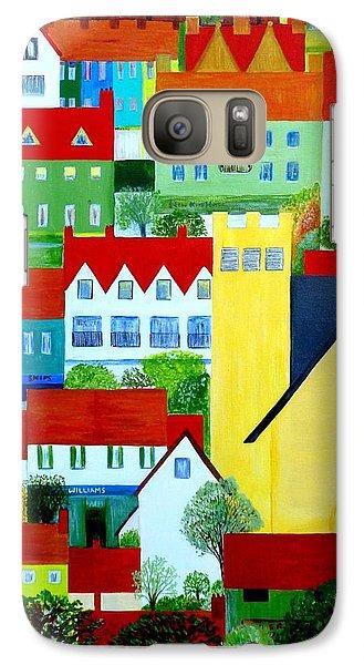 Galaxy Case featuring the painting Hillside Village by Barbara Moignard