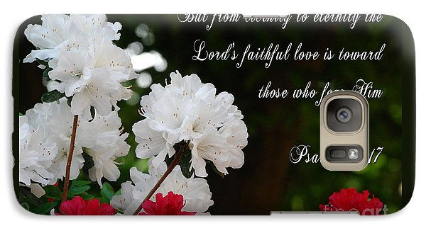 Galaxy Case featuring the photograph His Faithful Love by Linda Mesibov