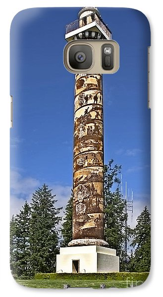 Galaxy Case featuring the photograph Historic Landmark Of Astoria Oregon Column by Valerie Garner