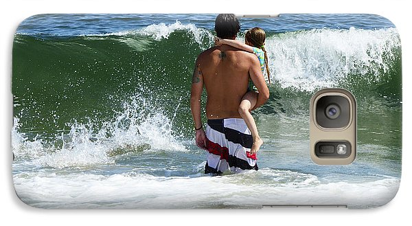 Galaxy Case featuring the photograph Holding On To Uncle Ryan by Maureen E Ritter