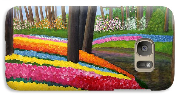 Galaxy Case featuring the painting Holland Gardens by Janet Greer Sammons