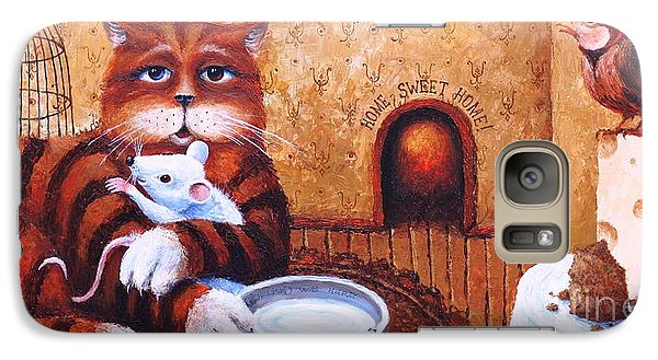 Galaxy Case featuring the painting Home Sweet Home by Igor Postash