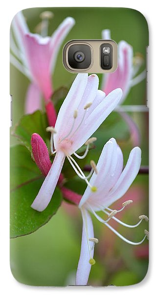 Galaxy Case featuring the photograph Honeysuckle by JD Grimes