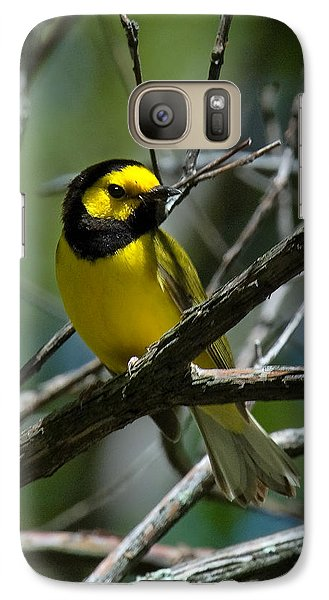 Galaxy Case featuring the photograph Hooded Warbler Dsb166  by Gerry Gantt